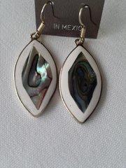 White Abalone Earrings