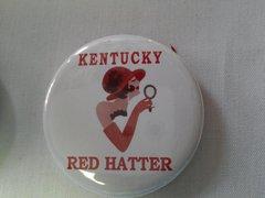 Kentucky Red Hatter Button