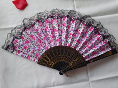 Pink and Lavender Floral Fan