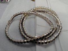 3 pc Purple Rhinestone Bracelets