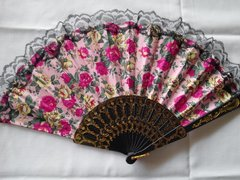 Pink and Fuchsia Floral Fan