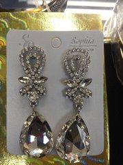 Clear Rhinestone Earrings #3250