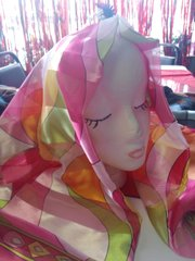 PIn wit Green Scarf #2988 42 x 42