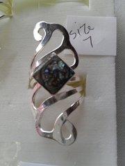 Abalone 3 Inlay Ring