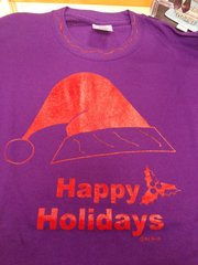 Purple Happy Holidays T Shirt