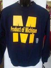 Navy Product of Michigan Sweatshirt #4006