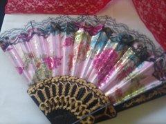 Pink Glitter Fan #2954