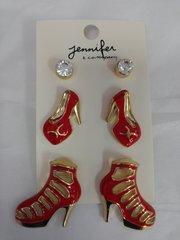 6 PC Heel Earring Set