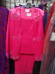 3 Pc Hot Pink Suit #4001