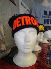 Navy w Orange Detroit Knit Cap 5876