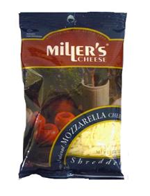 Mozzarella Cheese Shredded - Miller's