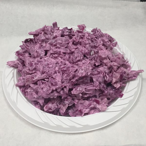 Homemade Red Cabbage in Mayo