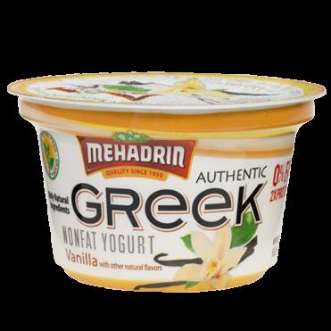 Mehadrin Greek Yogurt Vanilla 6 oz