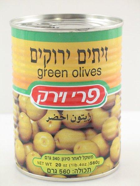 Pri Vayerek Green Olives Pitted