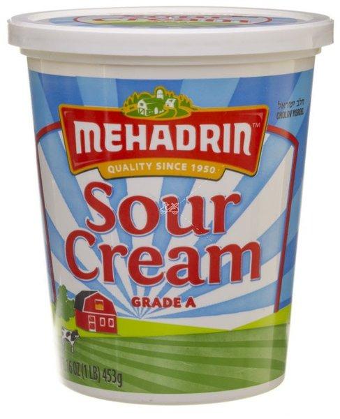Mehadrin Sour Cream 1 lb