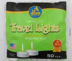 Ner Mitzvah Quality Travel Lights 50 ct