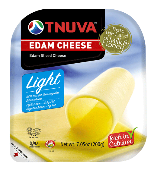 Edam Cheese Light Sliced - Tnuva