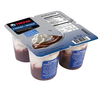 Tnuva Chocolate Pudding & Vanilla Mousse 4 ct