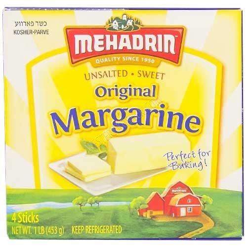 Mehadrin Unsalted Sweet Margarine