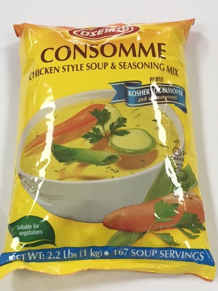 Osem Consomme Regular Instant Chicken Soup 2.2 lb.
