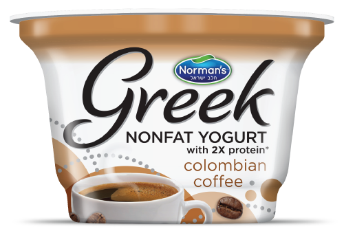 Norman's Greek Non-Fat Yogurt 6 oz Columbian Coffee