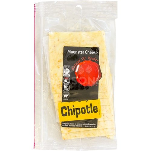 Muenster Cheese Deli Slices - Chipotle - Natural & Kosher