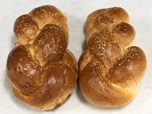 Unique Bakery Medium Sized Water Challahs 2 Pieces