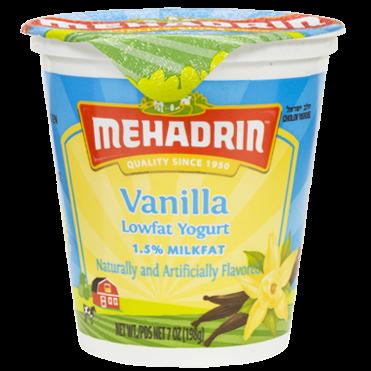 Mehadrin Low Fat Vanilla Yogurt