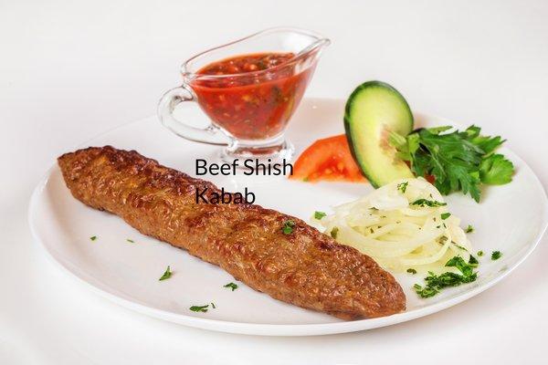 Beef Shish Kabab (lb.) -- gluten-free, non-GMO, no MSG, all natural