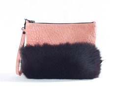 Blush Fur Clutch