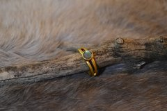 Labradorite Ring in 24k Gold