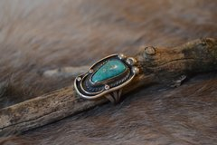 Large Turquoise Paw Ring