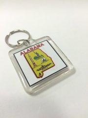 Alabama Square Key Chain