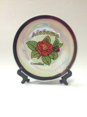 Alabama Ceramic Camellia Plate