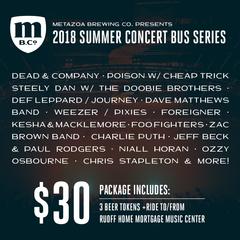 Concert Bus: Poison w/ Special Guests Cheap Trick (6/07/2018)