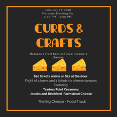2018 Curds & Crafts Event Admission - 2/17 @ 2PM