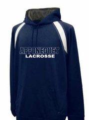 Apponequet Boys Lacrosse Hoodie (Navy/white)