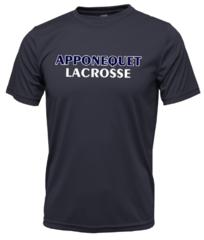 Apponequet Boys Lacrosse Tech Tee - Navy