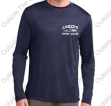 Apponequet Swimming No Home, No Problem! Long Sleeve Tech Shirt