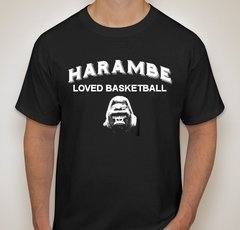 Harambe Loved Basketball Short Sleeve T-Shirt