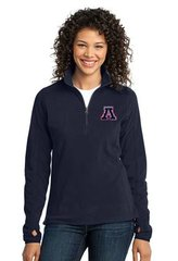 Apponequet Ladies MicroFleece 1/4 Zip Pullover