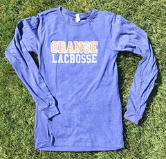 Orange Lacrosse Long Sleeve Super Soft Shirt