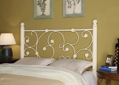 WHITE FINISH METAL HEADBOARD