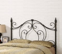 RUBBED BRONZE METAL HEADBOARD