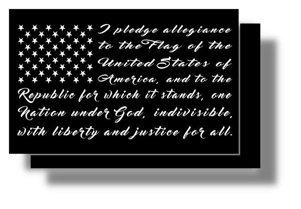 Pledge Of Allegiance Decal Jeepfreakapparel Com