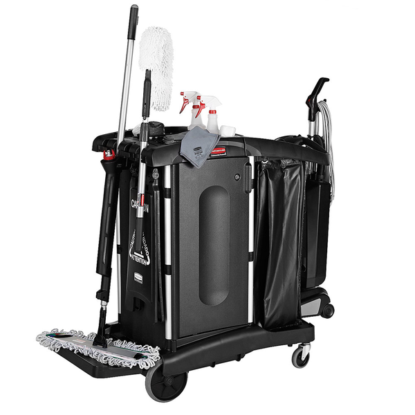 Rubbermaid 1861427 Executive Janitorial Cleaning Cart