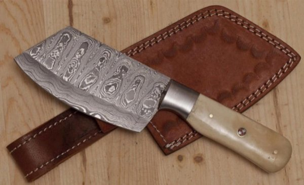 Damascus Steel Custom Hand Made Kithchen Cheff Clever