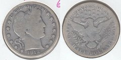 1912D BARBER HALF DOLLAR