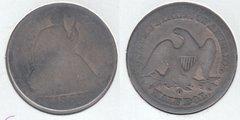 1855O  ARR SEATED HALF DOLLAR