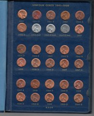 SET OF BU LINCOLN CENTS 1941-1958